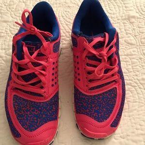 Pink and Blue Nike Free Run